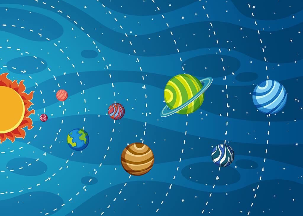 سیارهها اجرام آسمانی هستند.