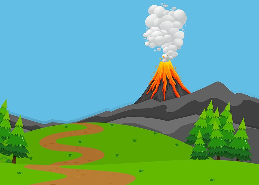 آتشفشانها به دلیل حرکت صفحات زمین به وجود میآیند.