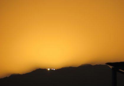 وضعیت غروب خورشید در استهلال رجب 1442