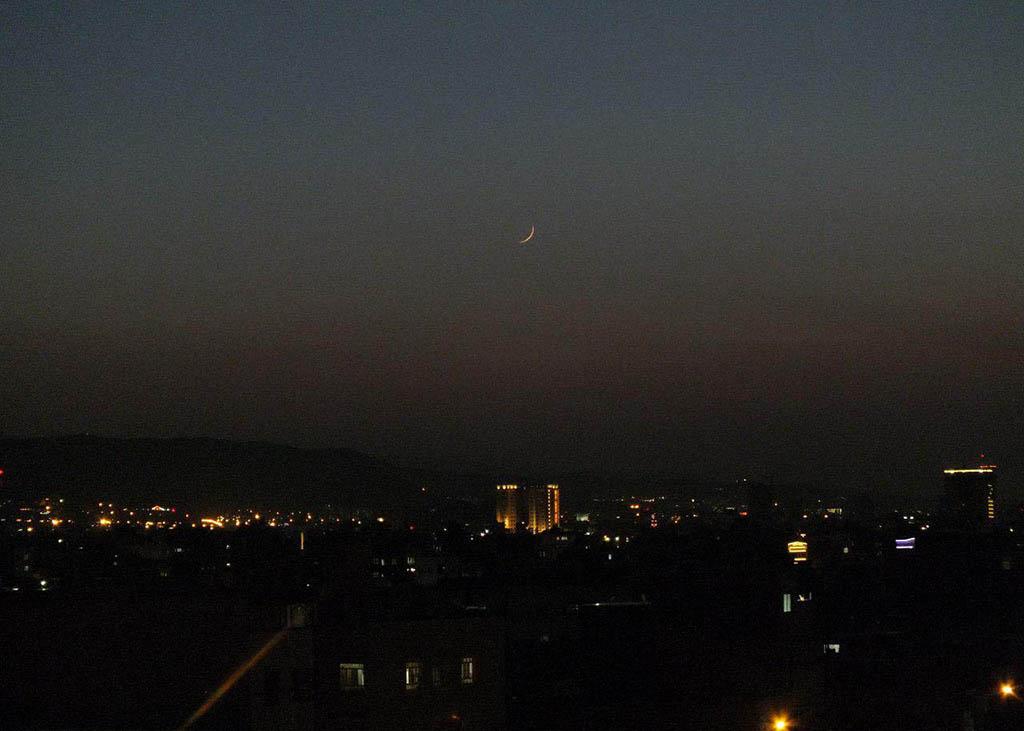 تصویر هلال ماه ذی الحجه 1440 هجری قمری